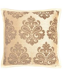 Saral Home Viscose Chenille Cushion Cover Set of 2 - Golden