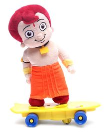 Chhota Bheem With Skate Battery Operated Plush Toy Multicolor - 25.5 cm