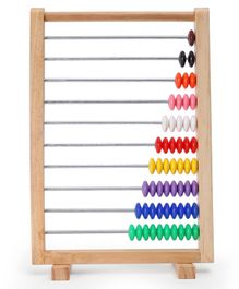 Awals Wooden Counting Abacus 1 to 10 Numbers - Multicolor