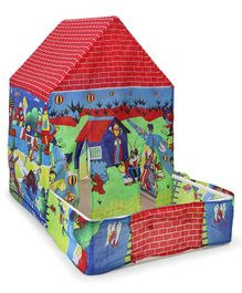 Kids Zone Tent House Garden Print - Multicolour