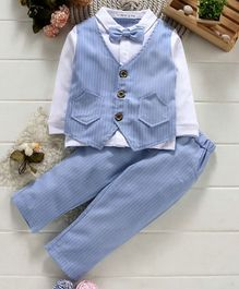 Mark & Mia 3 Piece Party Suit - Blue White