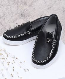 Cute Walk by Babyhug Loafers - Black