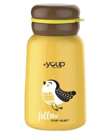 Youp Insulated Steel Water Bottle Bird Print Yellow - 300 ml