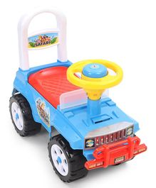 Kids Zone Manual Push Safari Jeep Ride On - Color May Vary