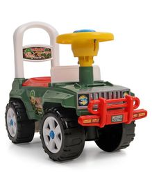 Kids Zone Commander Manual Push Jeep Rider - Color May Green