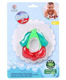 Ratnas Cherry Shape Water Filled Teether - Red