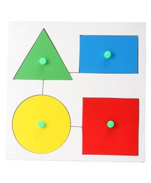 Awals 4 Pieces Smart Educational Set Shape Board - Multicolour