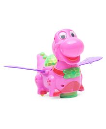Playmate Battery Operated Dino With Light & Music - Pink