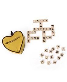 Imagician Playthings I love Bananagrams - Brown