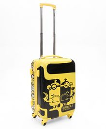 Minions Spy Villain Hard Trolley Bag Yellow Black - 20 Inches