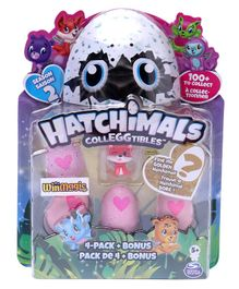 Hatchimals Collectables Pack of 4 - Pink Coral