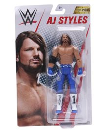 WWE AJ Styles Articulated Figure Multicolour - Height 17 cm