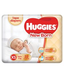 Huggies Taped Diapers For New Baby -22 Pieces