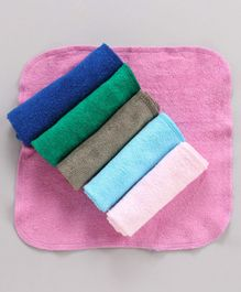 Babyhug Cotton Napkins Pack of 6 - Multicolour