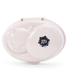 Kitten Shaped Soap Case - Cream
