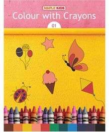 Colour With Crayons 1 Book - English