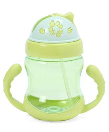 Twin Handle Sipper Cup With Straw Green - 320 ml