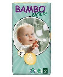 Bambo Nature Diapers Midi Tall - 66 Pieces