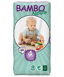 Bambo Nature Diapers Maxi Tall - 60 Pieces