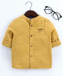 LC Waikiki Full Sleeves Solid Shirt - Yellow