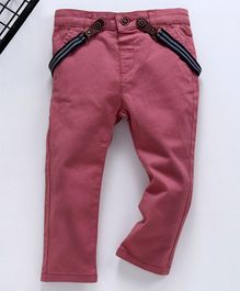 LC Waikiki Solid Full Length Trousers With Suspender - Red
