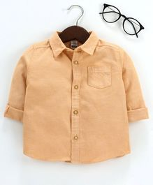 LC Waikiki Full Sleeves Solid Shirt - Beige