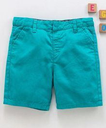 LC Waikiki Knee Length Solid Shorts - Green
