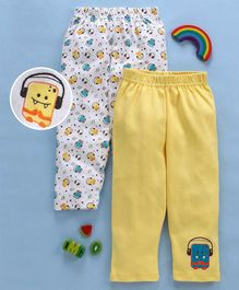 Babyhug Cotton Lounge Pants Pack of 2 - Multicolour