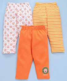 Babyhug Cotton Lounge Pants Pack of 3 - Multicolour