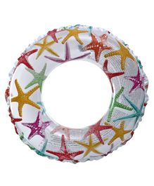 Tahanis Star Fishes Printed Kids Swim Ring - Multi Color