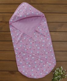 Baby Naturelle & Me Hooded Wrapper Bunny Print - Lavender