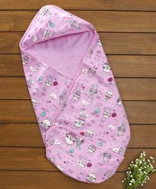 Baby Naturelle & Me Hooded Wrapper Bunny Print - Pink