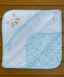 Baby Naturelle & Me Hooded Wrapper Bunny Patch - Blue