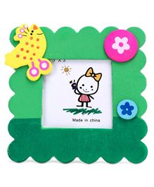 Square Photo Frame Bird Design - Green