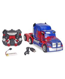 Turboz Remote Control Changing Robot Truck - Blue & Red