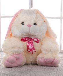 Dimpy Bunny Soft Toy Cream & Pink - Height 39 cm