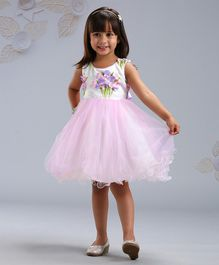 Mark & Mia Sleeveless Frocks Flower Applique - Light Pink