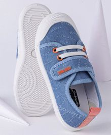Cute Walk by Babyhug Casual Canvas Shoes - Light Blue