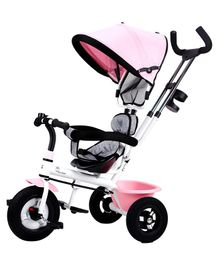 R for Rabbit Tiny Toes Sportz Stylish Plug & Play Tricycle - Pink Grey
