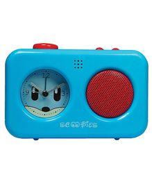 Scoobies Alarm Clock With Voice Recorder - Blue Red