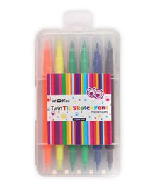 Scoobies Twintip Pens Pack Of 12 - Multicolor