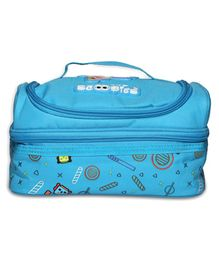 Scoobies Robot Printed Lunch Box Bag - Blue