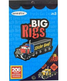 Scoobies Big Rigs Sticker Book Multicolor - 206 Stickers