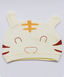 Kid-O-World Kitten Design Cap - Cream