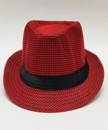 Kid-O-World Checked Hat - Red