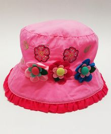Kid-O-World Flower Decorated Hat - Pink