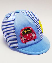 Kid-O-World Car Patch Striped Cap - Blue