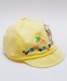 Kid-O-World Fish Embroidered Cap - Yellow