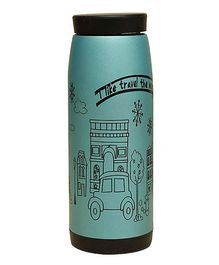 Syga Stainless Steel Creative Cartoon Water Bottle Blue - 500 ml