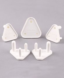 Babyhug Electrical Socket Cover Pack of 5 - White
